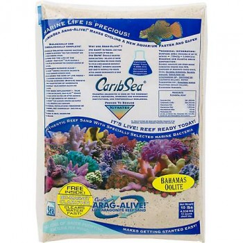 Песок CaribSea Arag-Alive Bahamas Oolite 9,07кг